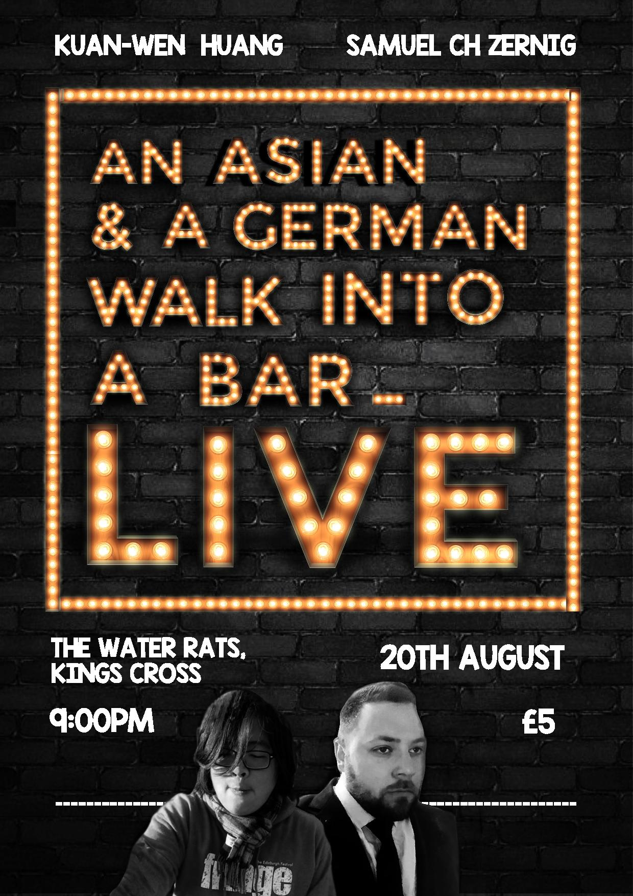 Samuel Ch Zernig An Asian and a German walk into a bar